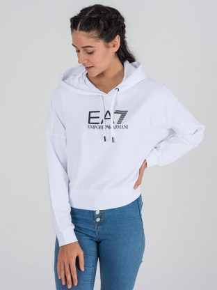 TRAIN SHINY W CROP HOODIE