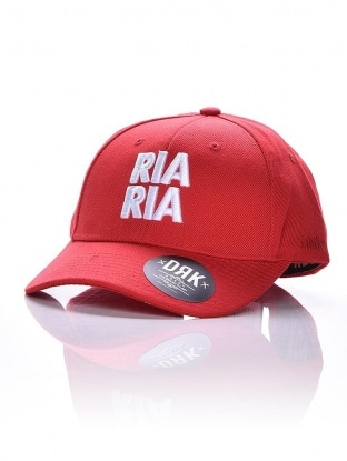 CURVED DRK RIA RIA STRAPBACK RED