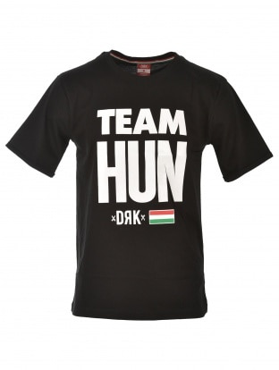 TEAM HUN T-SHIRT BLACK UNISEX