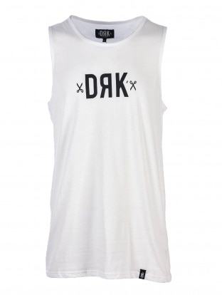 DRK LOGO T-SHIRT MEN VEST WHITE