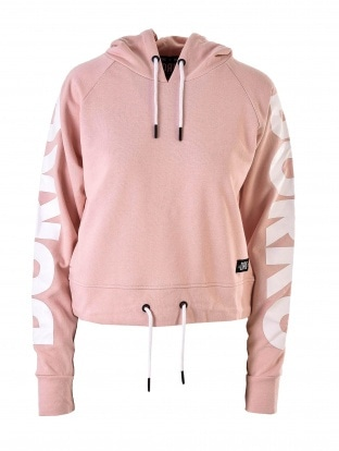 PINK WOMEN CROPPED HOODY